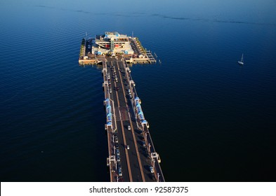 Aerial view of the Pier in St. Petersburg, Florida