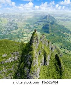 Aerial view of Pieter Both Mountain Mauritius