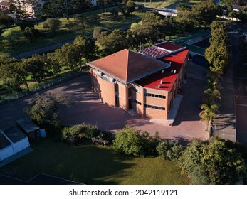 Aerial view of the Pinelands Al-Raudah Masjid in Pinelands, Cape Town, Western Cape, South Africa. 15 September 2021.