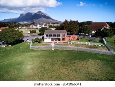 Aerial view of the Pinelands Cricket Club, The Oval, Pinelands, Cape Town, Western Province, South Africa. 13 September 2021.