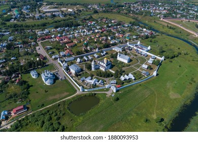 Aerial view of the Pokrovsky monastery, Russia.