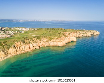 Aerial view from Ponta da Piedade, Algarve, Portugal