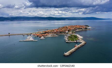 Aerial view of port of Nessebar