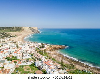 Aerial view from Praia da Luz, Lagos, Algarve, Portugal