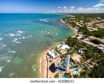 Aerial View of Praia do Forte, Bahia, Brazil
