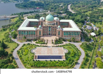 Aerial View Of Prime Minister's Department Complex Putrajaya With Garden Concept