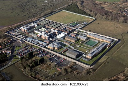 aerial view of a prison in the UK