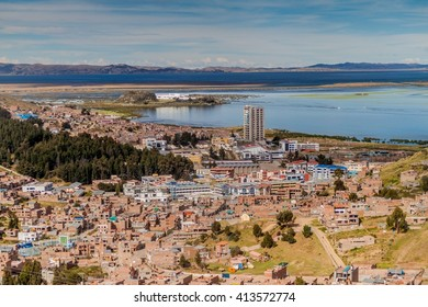 Aerial view of Puno, Peru