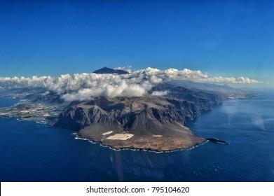 Aerial view of Punta de Teno, Tenerife, Canaries, Spain