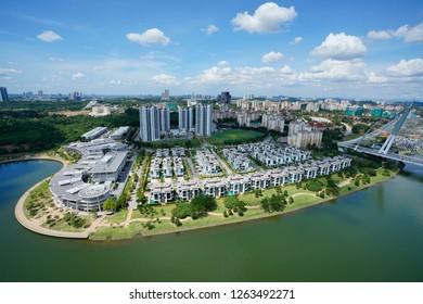 Aerial view of Putrajaya in the afternooon