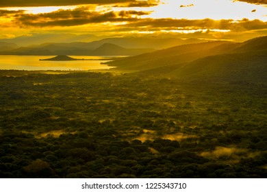 Aerial view of the rain forest of southern Ethiopia.