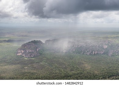 Aerial view of rain showers, Northern Territory