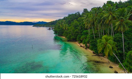 Aerial view of  Raja Ampat island, West Papua, Indonesia.
