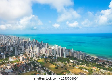Aerial view of Recife city, capital of the Pernambuco State - Brazil
