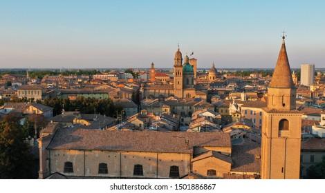 Aerial view of the Reggio Emilia town center, Emilia Romagna, Italy