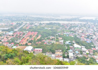 Aerial View of Residential Areas in Nakhon Sawan Province in Thailand