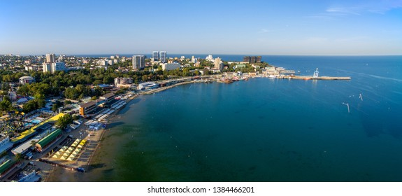 Aerial view to the resort Anapa city. Russia