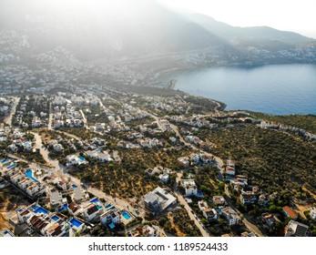 Aerial View of Resort Town Kalkan Antalya in Turkey