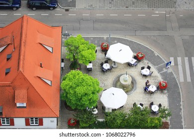 Aerial view of restaurant