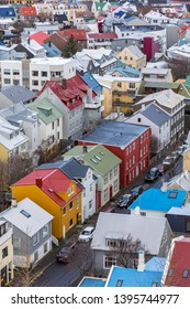 Aerial view of Reykjavik city, Capital of Iceland