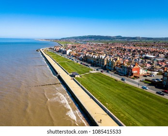 Aerial view of Rhyl in Wales - United Kingdom