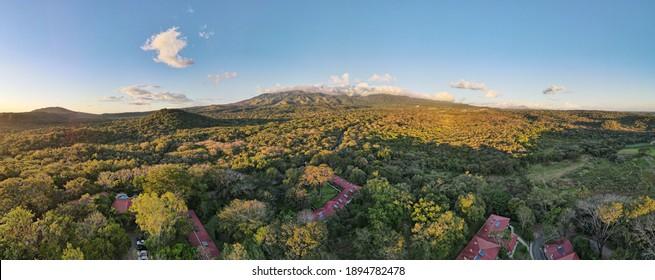 Aerial View of the Rincon de La Vieja Volcano and National Park in Guanacaste, Costa Rica