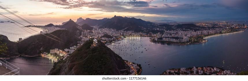 Aerial view of Rio de Janeiro, Brazil. Taken from Sugarloaf mountain.