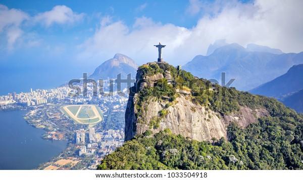 Vue aérienne du ciel de Rio de Janeiro au Brésil