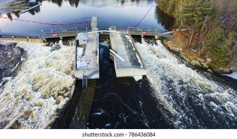 Aerial View Of River Run Spring Lock