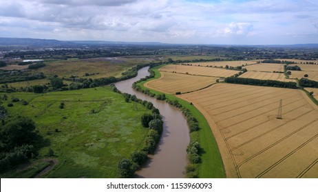 Aerial view of River Severn at Gloucester