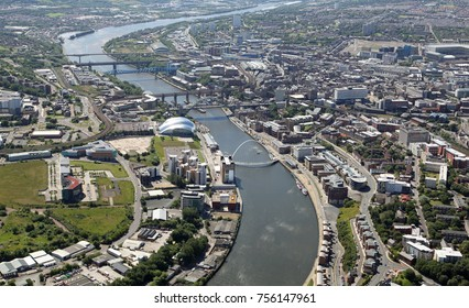 aerial view of the River Tyne