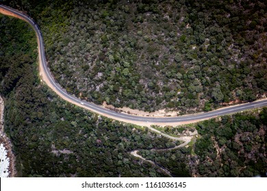 Aerial view to the road near Cape of Good Hope, Capetown, South Africa