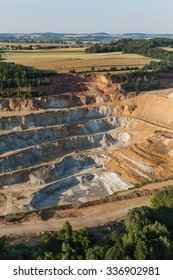 aerial view of rock quarry in Poland