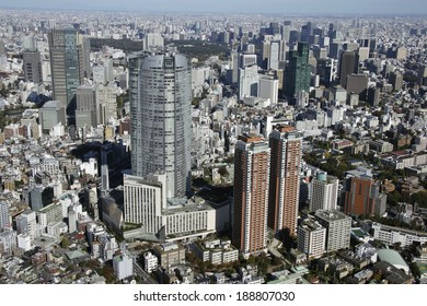 Aerial view of Roppongi Hills areas