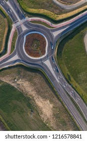 aerial view of the roundabout
