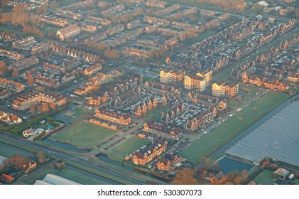 Aerial view - rows of holland houses