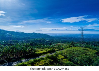 An Aerial View of Rural and Agricultural Area, Bandung, West Java, Indonesia, Asia