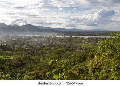 Aerial view of Rurrenabaque, the gateway to the Bolivian Amazon rainforest