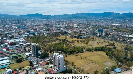 Aerial View of the Sabana Park in Costa Rica