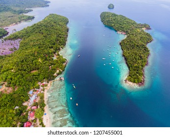 Aerial view of the sabang coast, Aceh Indonesia