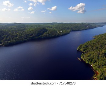 Aerial view of the Saguenay river in Quebec