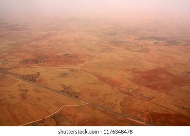 Aerial View of the Sahara Desert in Libya