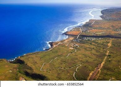 Aerial View of Saint Leu, La Réunion
