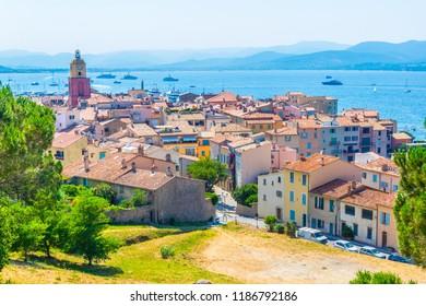 Aerial view of Saint Tropez, France
