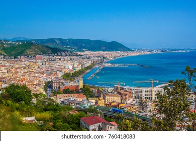 Aerial view of Salerno. Italy