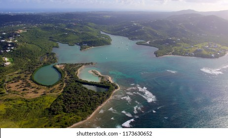 Aerial view of Salt River on St. Croix