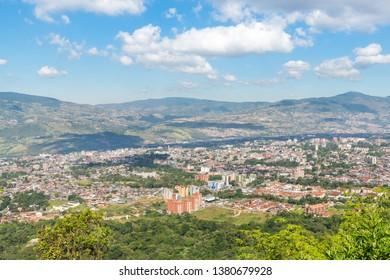 Aerial view of San Cristobal city, in Tachira state, Venezuela