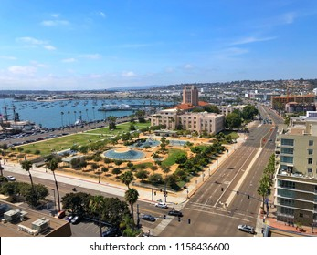Aerial View of San Diego Waterfront Park