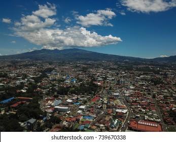 Aerial view of San Jose Costa Rica