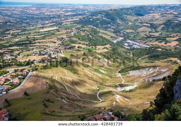 Aerial View San Marino Gardens Houses Stock Photo Edit Now 428481739